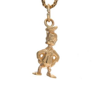 14K Yellow Gold 18mm 3D Donald Duck Charm/Pendant
