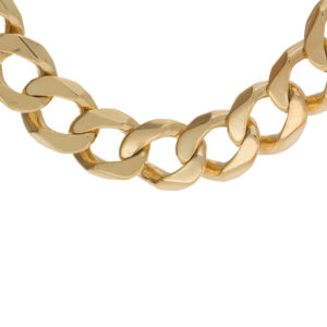 Bold 10K Yellow Gold 27″ Open Curb Link Chain