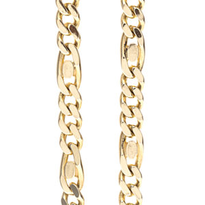 14K Yellow Gold 18″ Stylized Figaro/Curb Link Chain