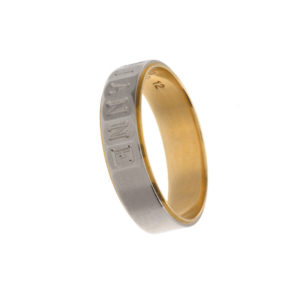 Pinky & Dianne Platinum & 18K Yellow Gold Band