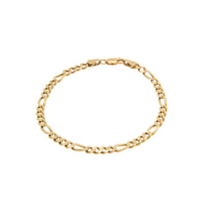 Stylish 18K Yellow Gold 8.25″ Figaro Link Bracelet