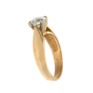 14K Yellow Gold .80CT Diamond Solitaire Engagement Ring