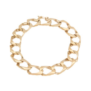 10K Yellow Gold 8.75″ Open Square Curb Link Bracelet