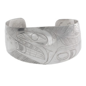 Sterling Silver First Nations Orca & Seal Bangle by Tony Hunt Sr.
