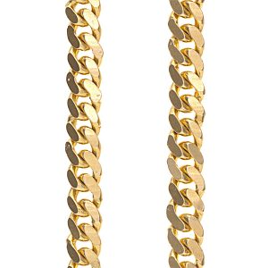 Heavy 22K Yellow Gold Tight Curb Link Chain