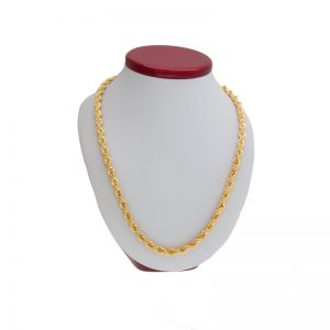 Heavy 14K Yellow Gold 24″ Rope Link Chain