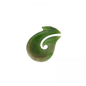 Maori New Zealand Nephrite Jade Fish Hook Pendant