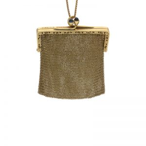 Vintage Tiffany & Co. 14K Yellow Gold Mesh Clutch Change Purse/Pendant