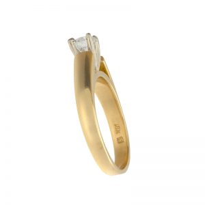 18K Yellow Gold .38CT Canadian Diamond Engagement Ring