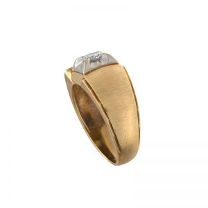 14K Yellow Gold Tapered 0.33CT Diamond Solitaire Ring