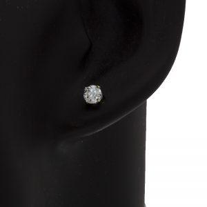 Pair of 14K White Gold .71TDW O.E.C Diamond Stud Earrings