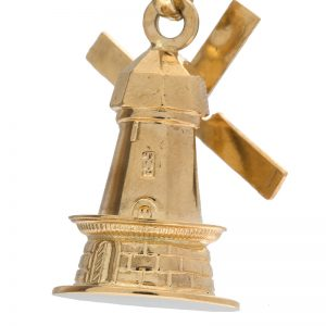 18K Yellow Gold Articulated Windmill Pendant