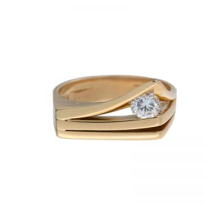 Custom Made 14K Yellow Gold .34CT Diamond Ring
