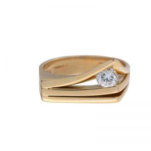 Custom Made 14K Yellow Gold .34CT Diamond Ring