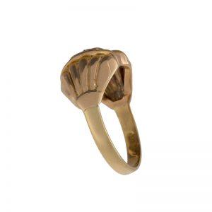 Antique 10K Yellow Gold .12CT OEC Diamond Ring