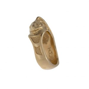 14K Yellow Gold Salmon Ring by Artist Bill Helin
