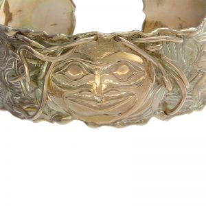 "Unique 18K ""Dancing In The Light"" C- Cuff Bangle by Bill Helin"