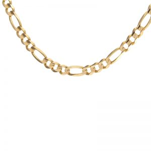 14K Yellow Gold 20.5″ Figaro Link Chain