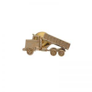 14K Yellow Gold 27mm Dump Truck Tie Tac
