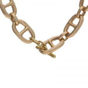 14K Yellow Gold Hand Made Heavy Marine Link Chain