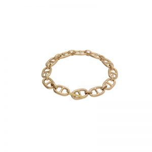 14K Yellow Gold 8″ Hand Made Heavy Marine Link Bracelet