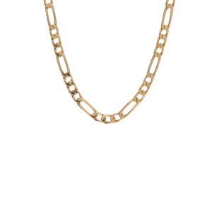 14K Yellow Gold 24″ Figaro Link Chain