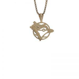 14K Yellow Gold Blue Jays Charm/Pendant