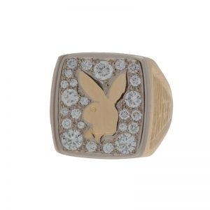 Custom Made 14K Yellow Gold 1.14TDW Playboy Ring