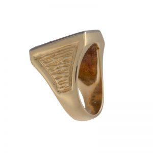 Custom Made 14K Yellow Gold 1.14TDW Playboy Ring