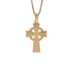 10K Yellow Gold 27mm Celtic Cross Pendant
