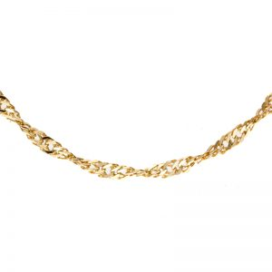 Lovely 10K Yellow Gold 21.5″ Singapore Link Chain