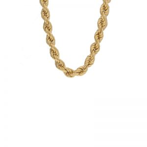 Polished 18K Yellow Gold BIRKS 18″ Rope Chain