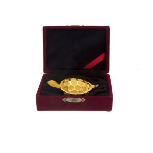 **Call For Price** Fancy Fine Gold 90mm Turtle with Box