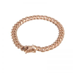 10K Rose Gold 8″ Curb Link Bracelet