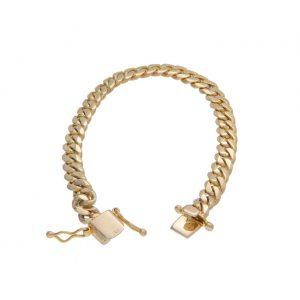 10K Yellow Gold 8″ Curb Link Bracelet