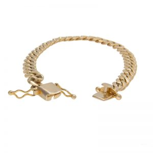 10K Yellow Gold 8″ Curb Link Bracelet