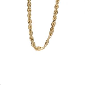 10K Yellow Gold 26″ Diamond Cut Solid Rope Link Chain