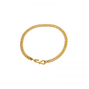 24K Yellow Gold 7.5″ Curb Link Bracelet