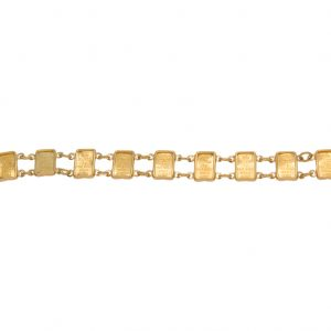 14K Yellow Gold 7.25″ 1 Gram Suisse Gold Wafer Bracelet