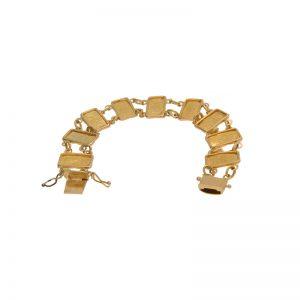 14K Yellow Gold 7.25″ 1 Gram Suisse Gold Wafer Bracelet