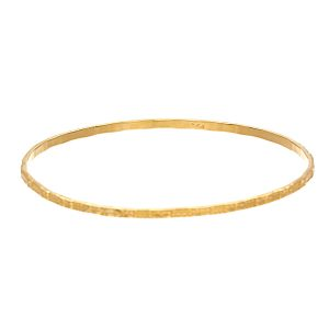 22K Yellow Gold Diamond Cut Fancy Pattern Bangle