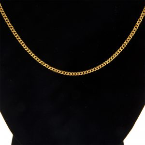 24K Yellow Gold 18.5″ Curb Link Chain