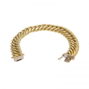 18K Yellow Gold 8″ Tight Curb Link Bracelet