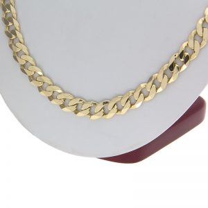 10K Yellow Gold 24″ Open Curb Link Chain