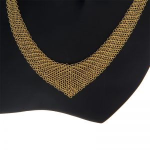 18K Yellow Gold Tiffany & Co. Elsa Peretti Mesh Scarf Necklace