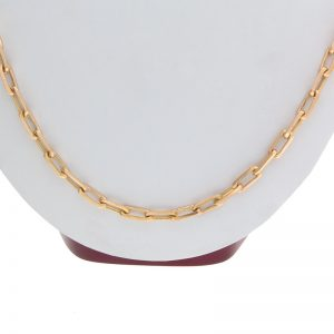 18K Yellow Gold 30″ Elongated Cable Link Chain