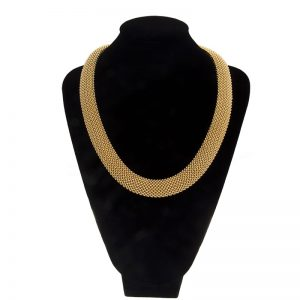 Heavy 18K Yellow Gold 20″ Weave Link Necklace