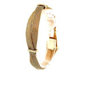 18K Yellow Gold 7.25″ Double Woven Mesh Style Bracelet