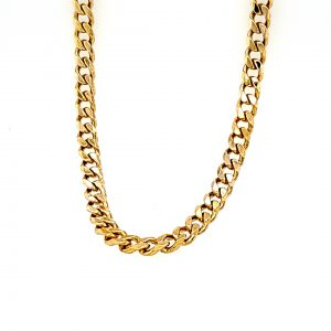 10K Yellow Gold 21″ Curb Link Chain