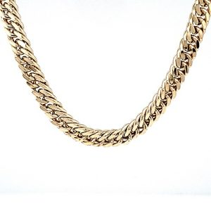 10K Yellow Gold 20″ Tight Curb Link Chain